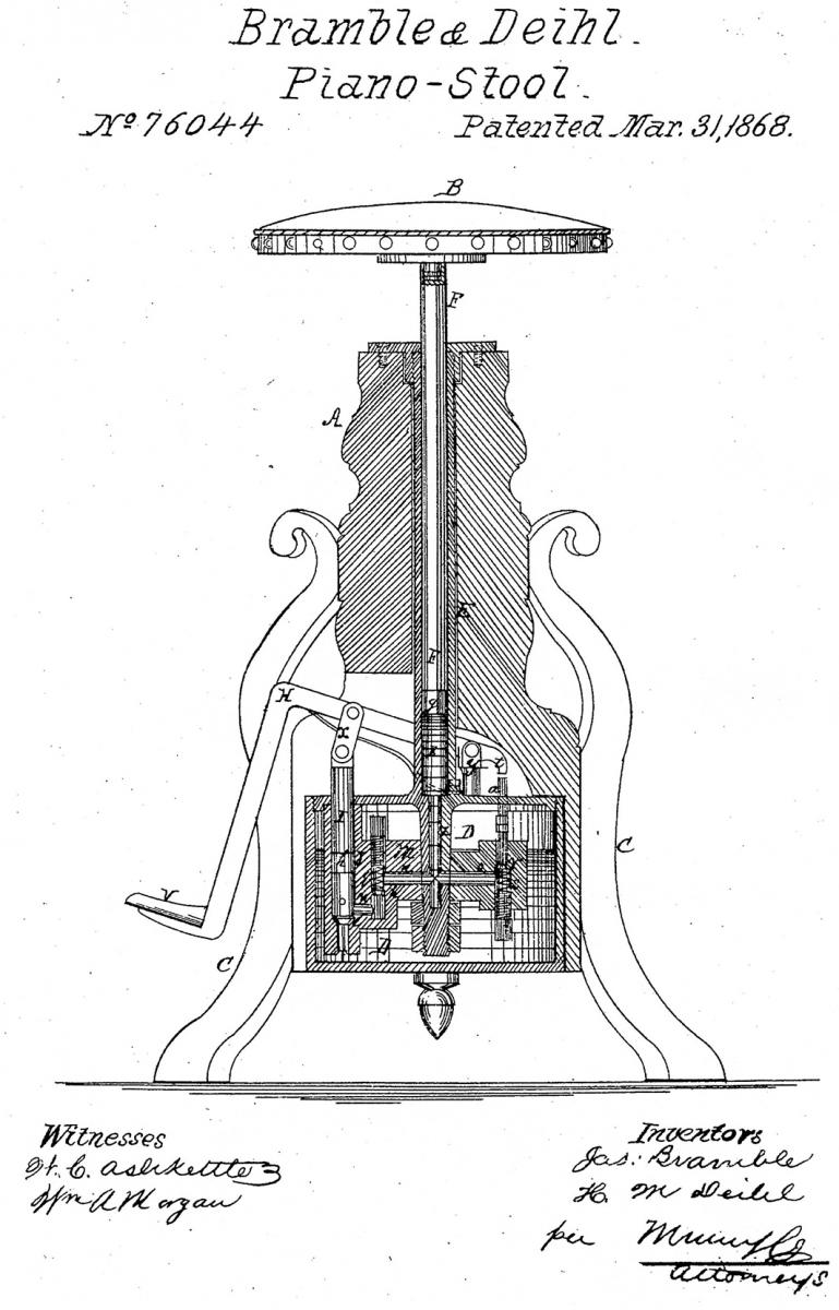Patent model drawing