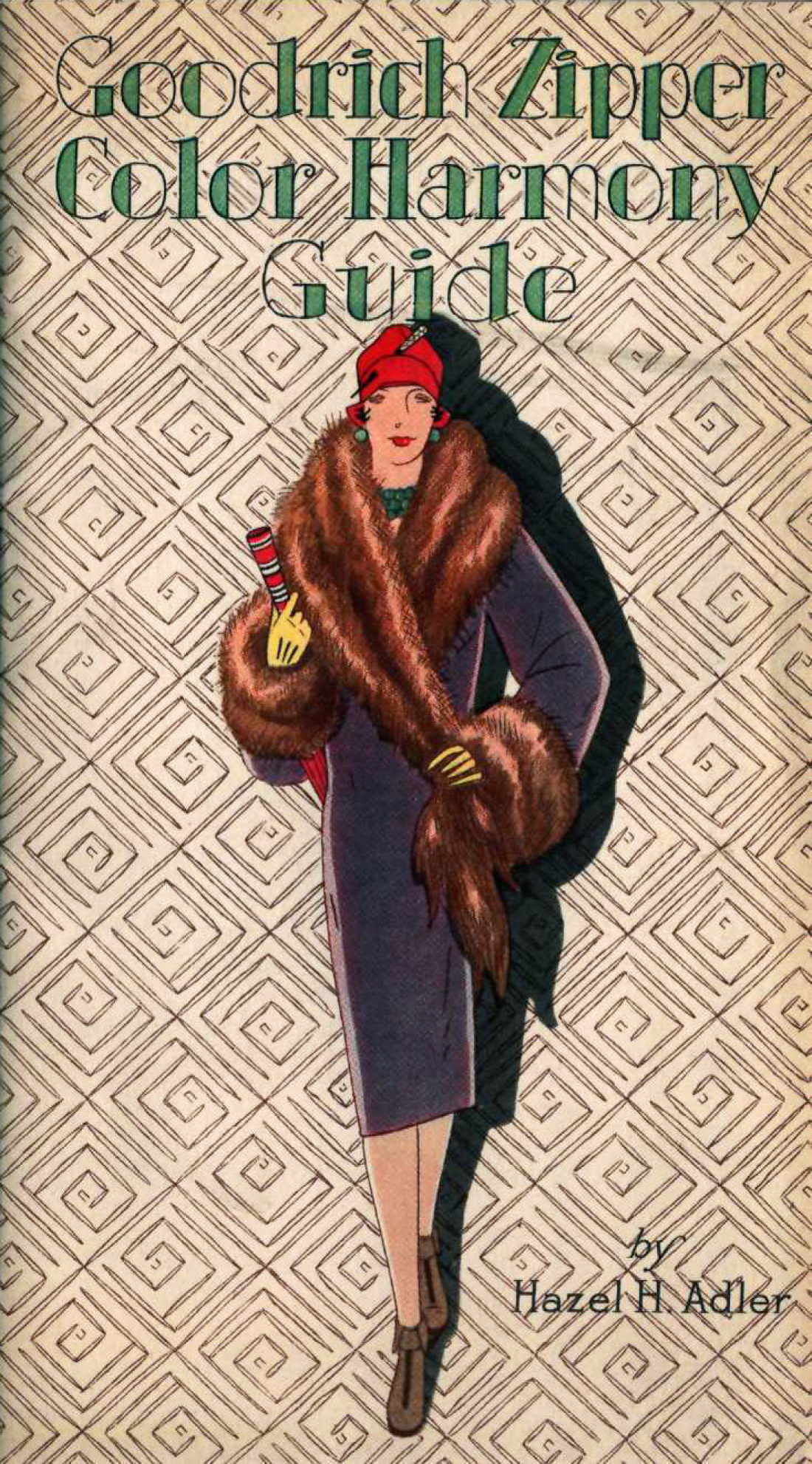 Cover of a 1927 catalog for zippered boots, featuring an illustration of a well-dressed woman.