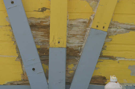 Paint loss on the boxcar