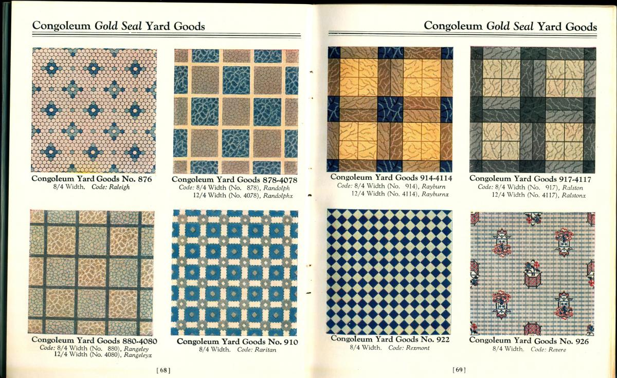 Pattern book pages.