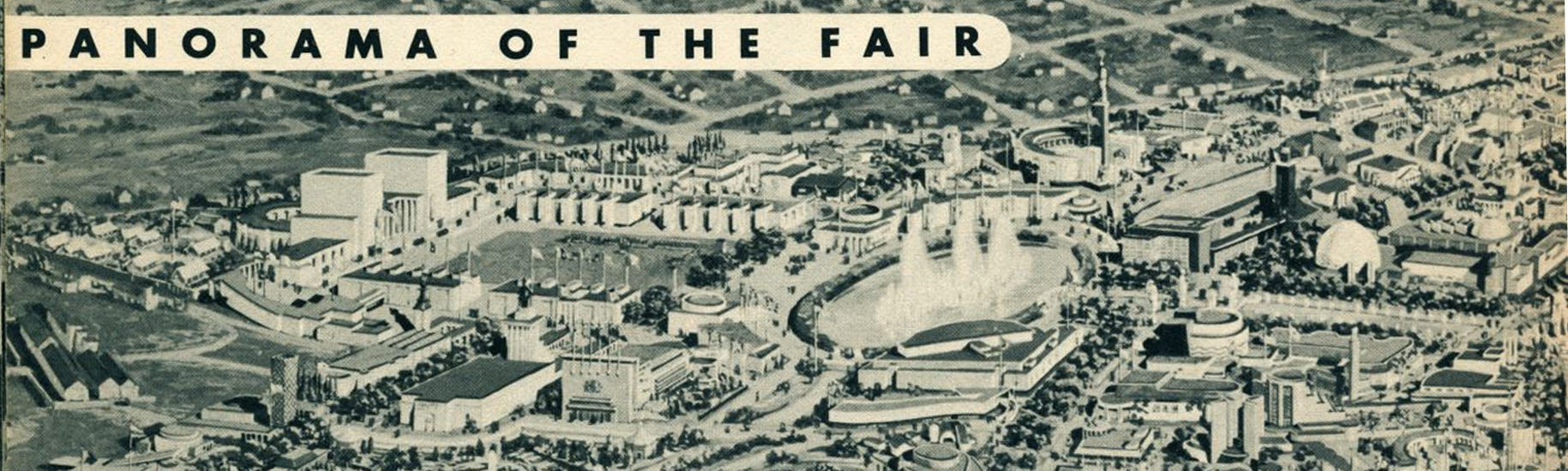 Aerial view of the 1939 World's Fair
