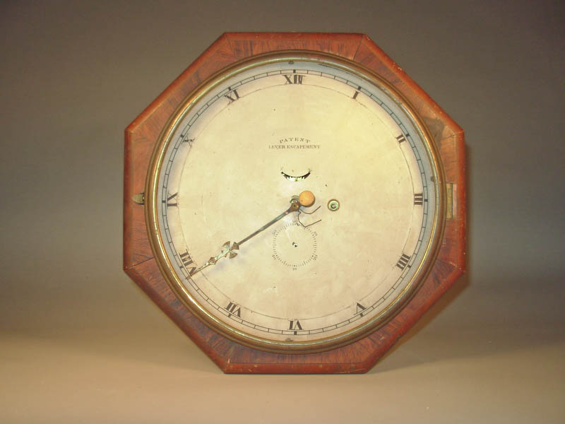 Clock with wooden frame