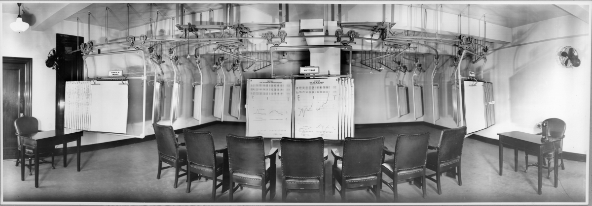 DuPont chart room monorail system
