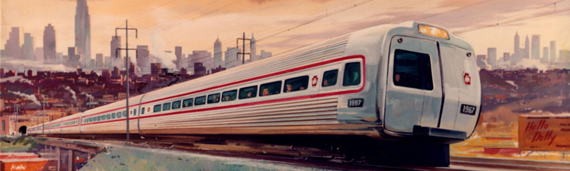 Metroliner train illustration