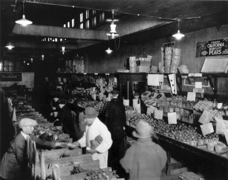 Interior of Borton's Store on 52nd and Market Street in Philadelphia, Pennsylvania in 1923