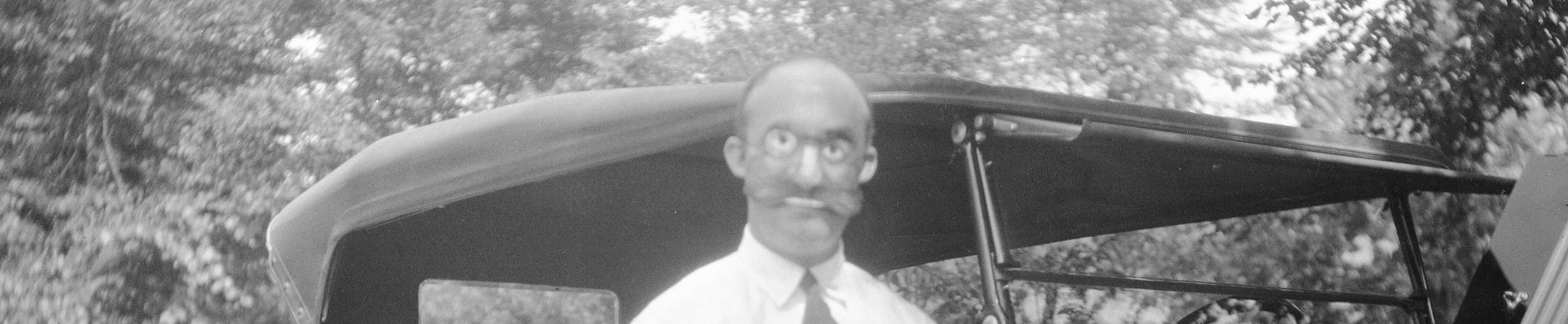 Mr. Clash wearing a mask at Bushkill