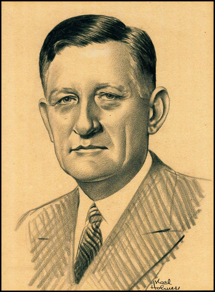 Robert M. Gaylord's sketched portrait, NAM President
