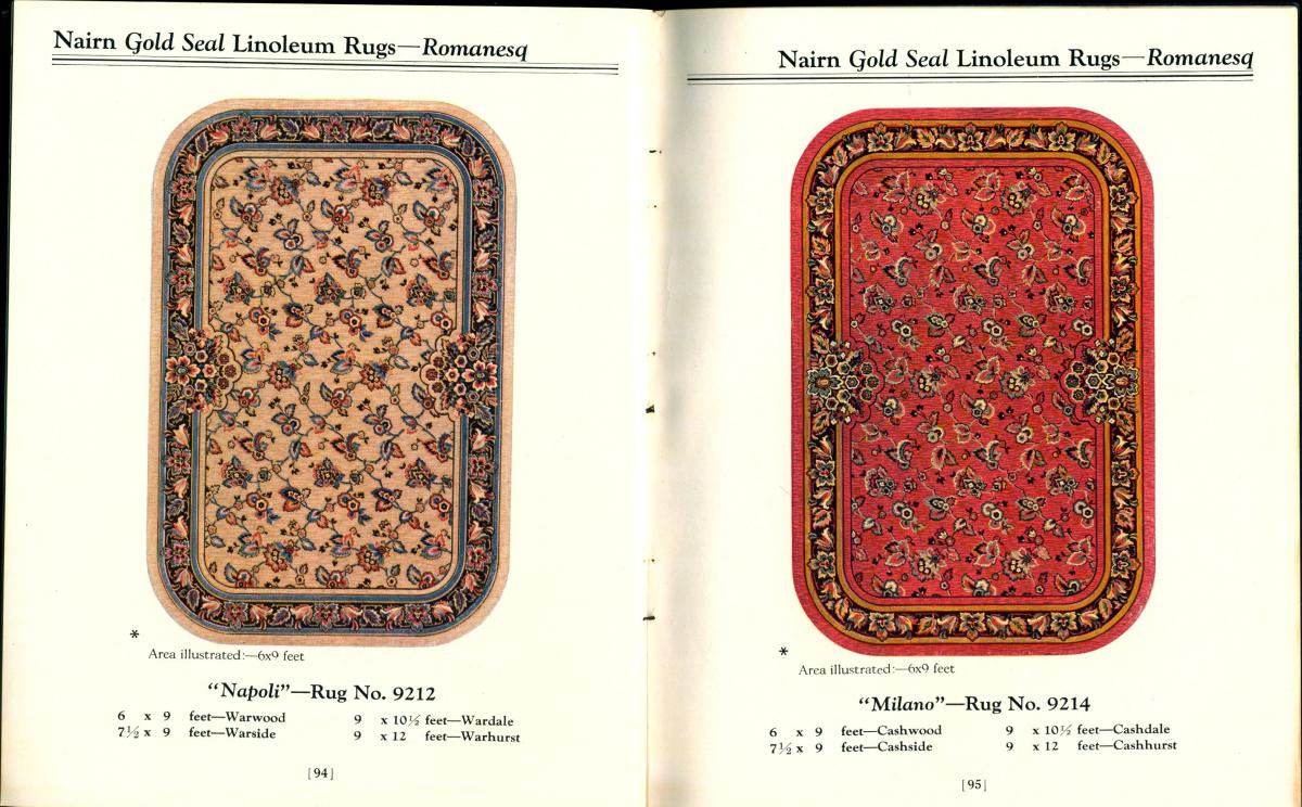 Rug patterns in the catalog