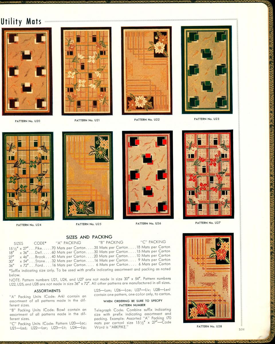 Utliity mat patterns