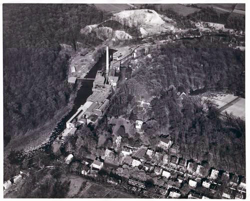 Joseph Bancroft and Sons Company, aerial view, 1931