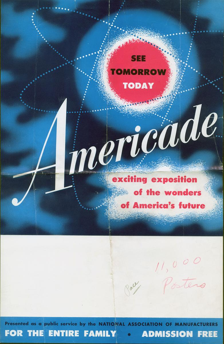 "Americade poster that says ""See tomorrow today"""