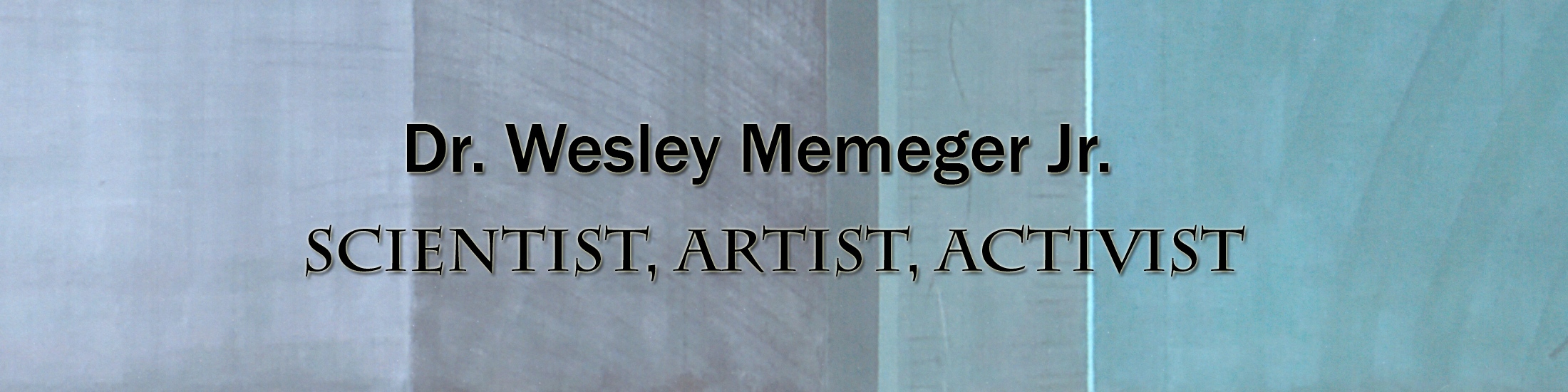 Banner for Dr. Wesley Memeger Jr. Digital Exhibit