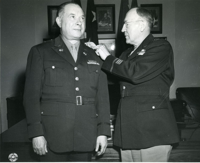 Sarnoff receives his promotion