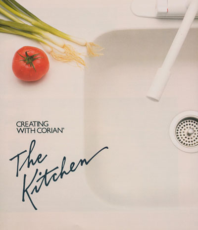 """""""Creating With Corian: The Kitchen"""" promotional matieral"""