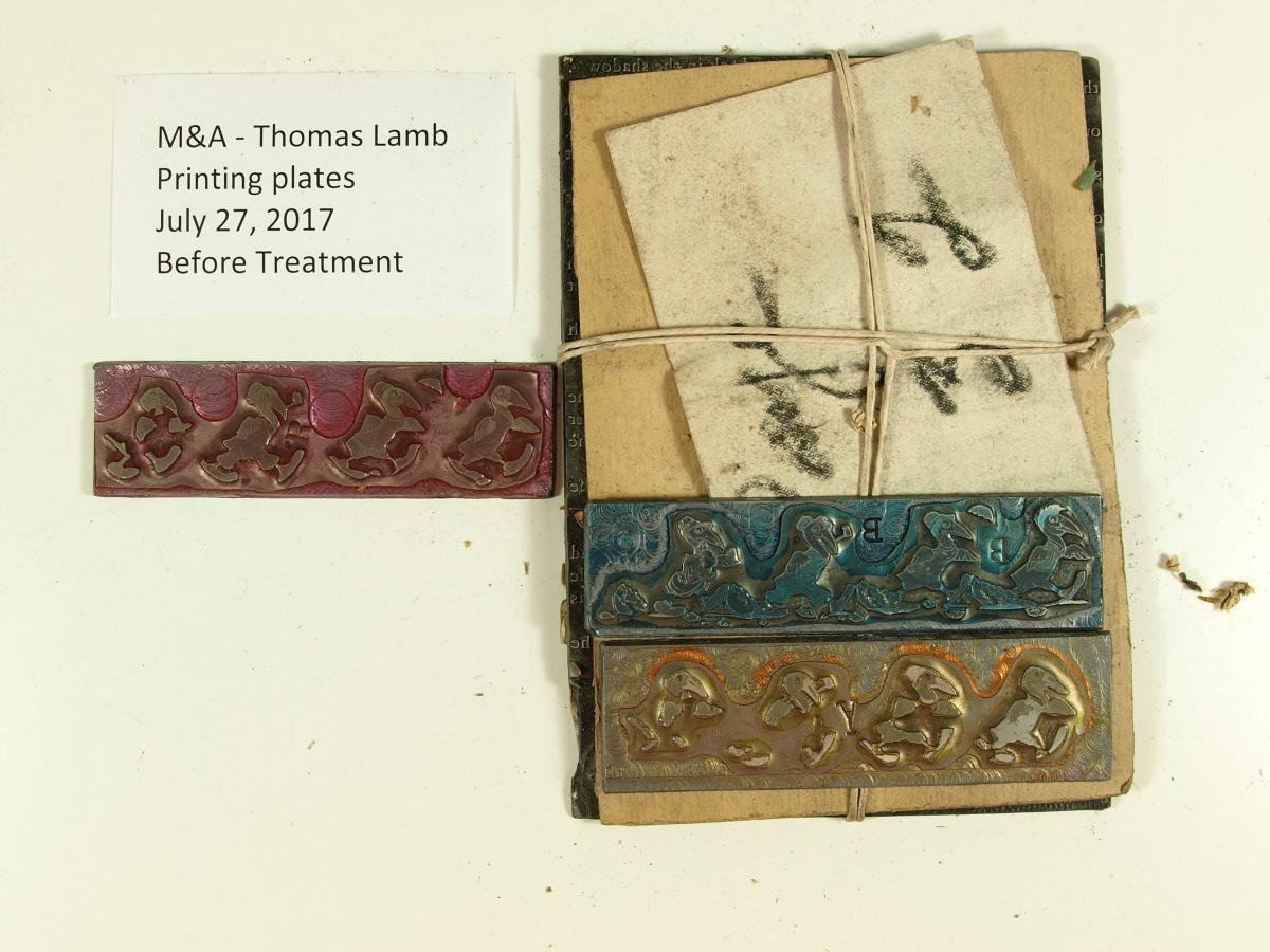 The printed plates used for Lamb's illustrations.