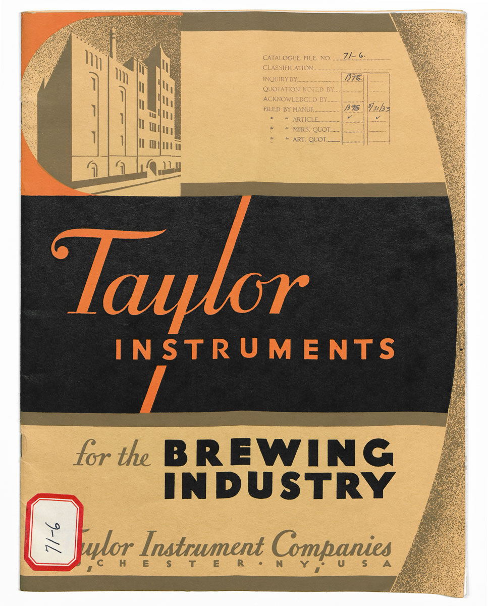 Catalog for Taylor brewing instruments