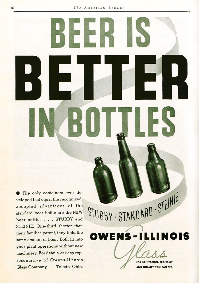 Beer bottle ad