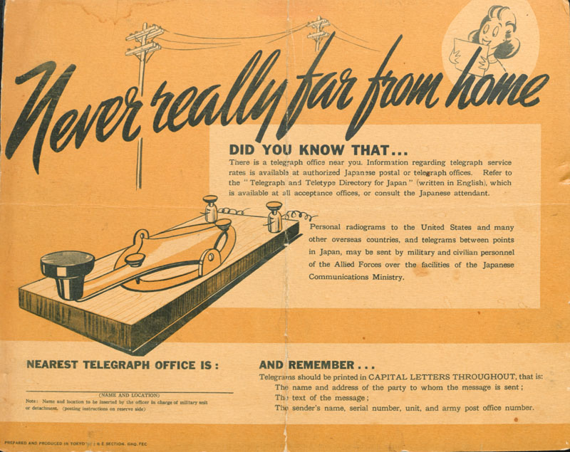 Ad for telegraph office locations