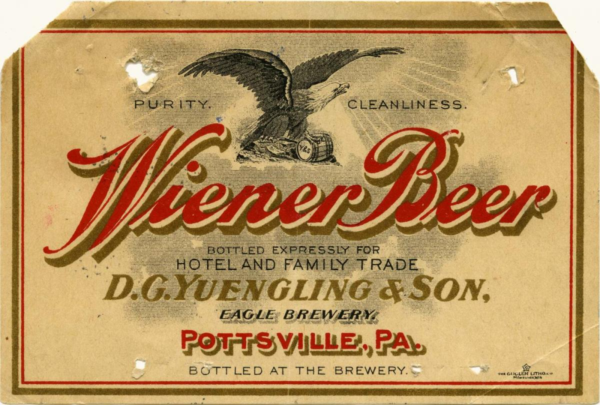 Beer label featuring an eagle