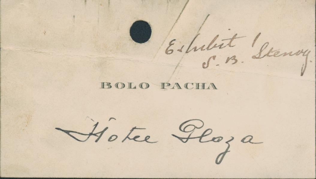 Bethlehem steel a french hunt for conspirators and traitors during business card of french traitor and german agent bolo pacha colourmoves