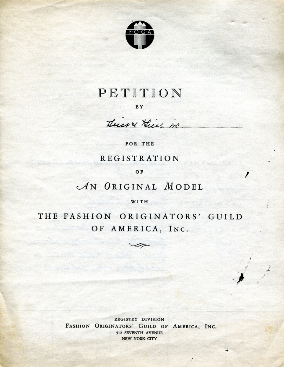A petition filed by Geist & Geist to register an original design with the FOGA