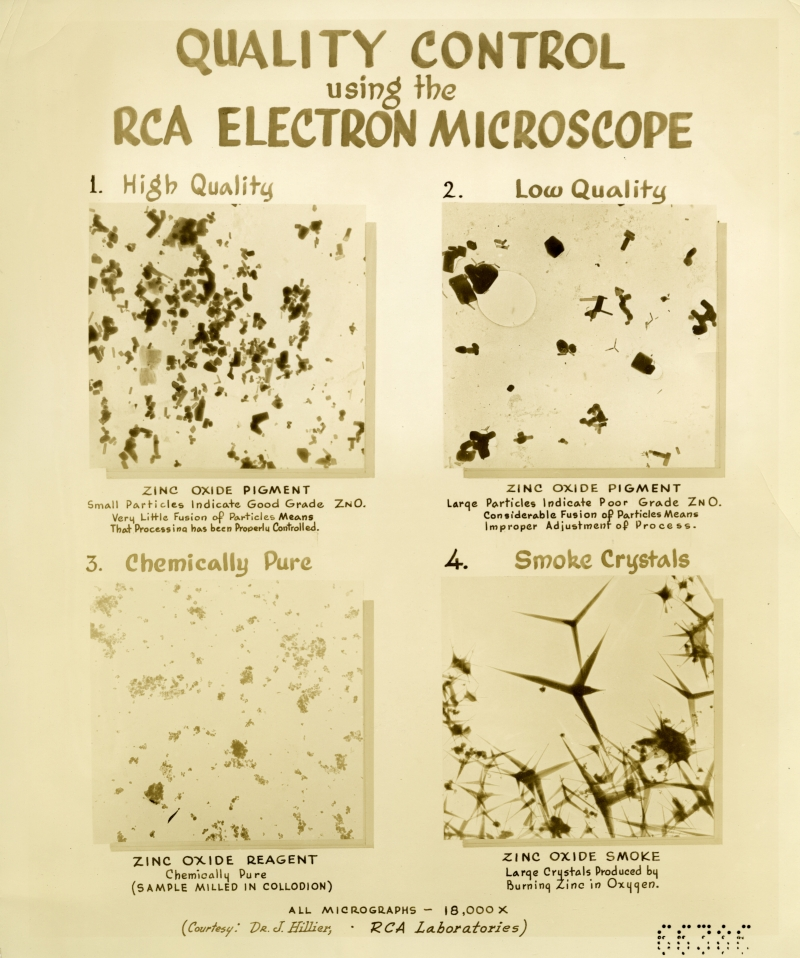 RCA electron microscope slide images
