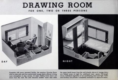 A brief review of a room accommodations in Pennsylvania Railroad's 142 light-weight sleeping cars placed in service during the years 1938-1940. (Pennsylvania Railroad Company, 1948)