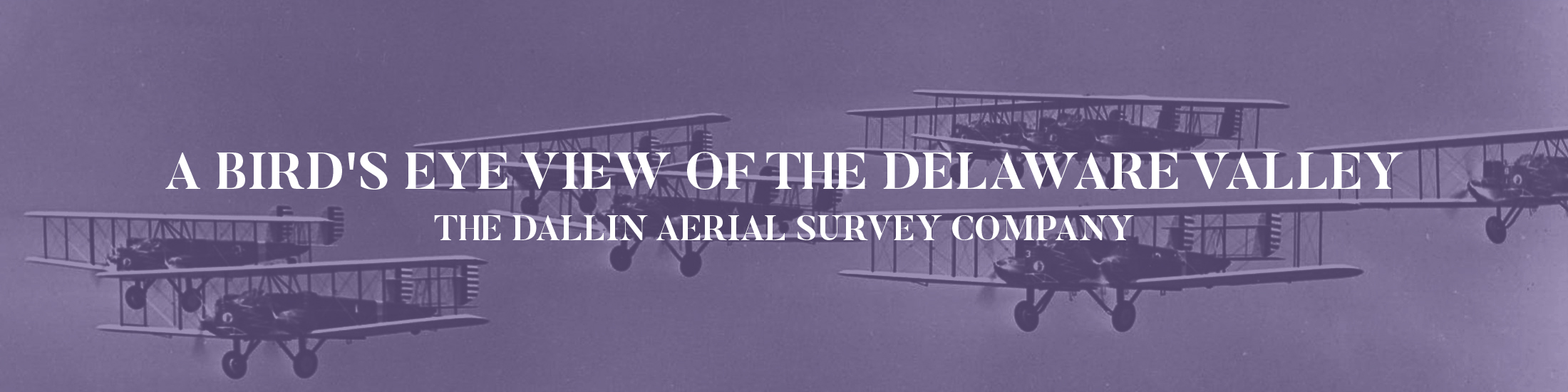 Dallin aerial survey of airplanes in formation