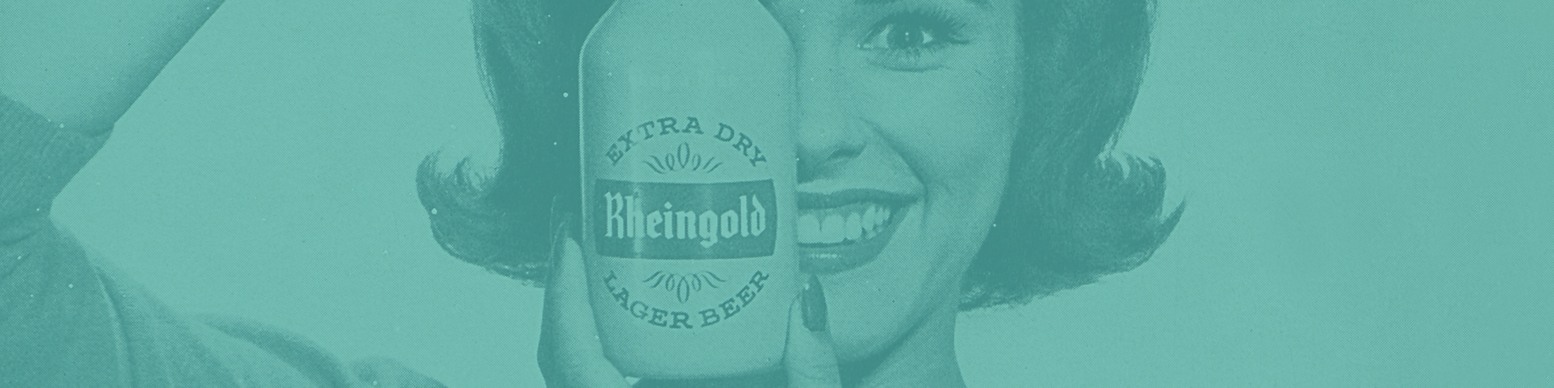 Vintage Rheingold beer advertisement