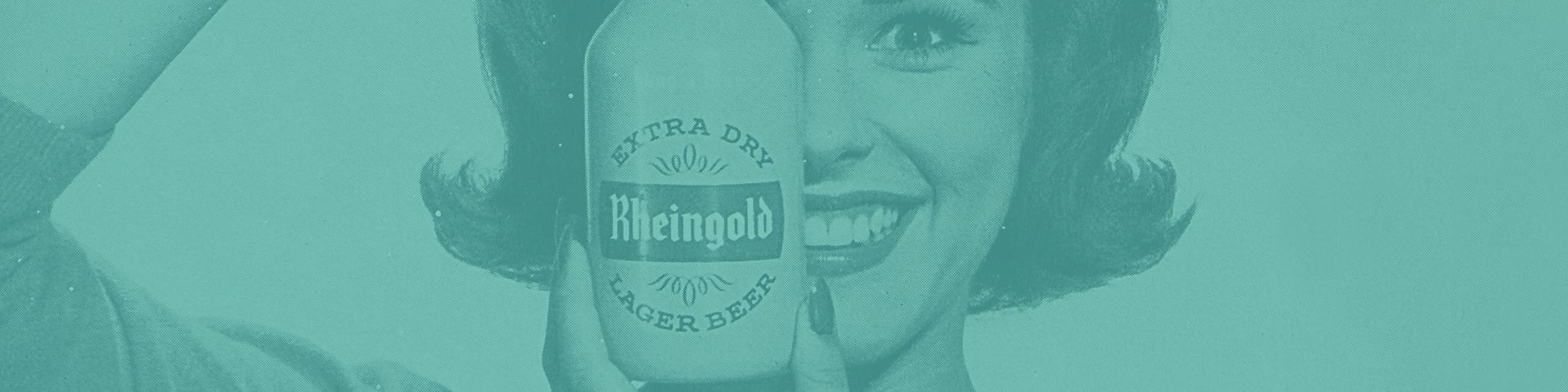 Vintage Rheingold beer advertisement