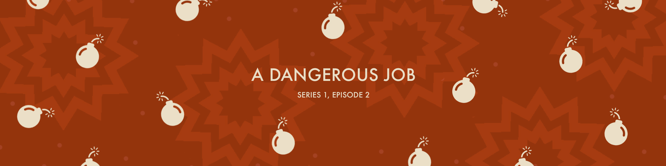 A Dangerous Job text surrounded by cannonballs