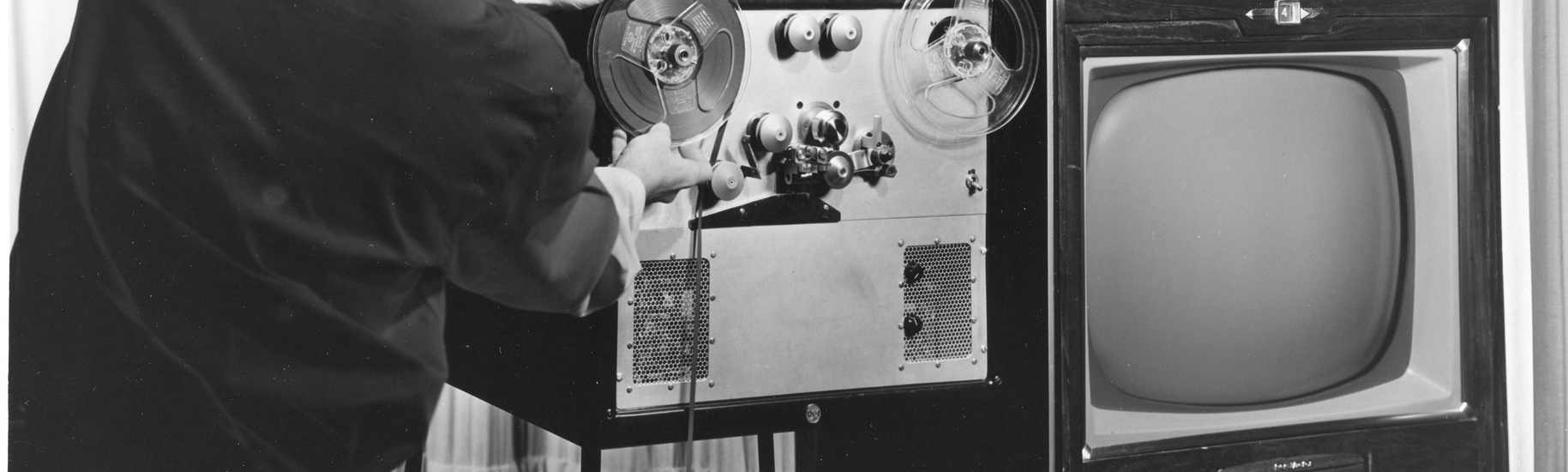 A TV and early tape recording system by RCA