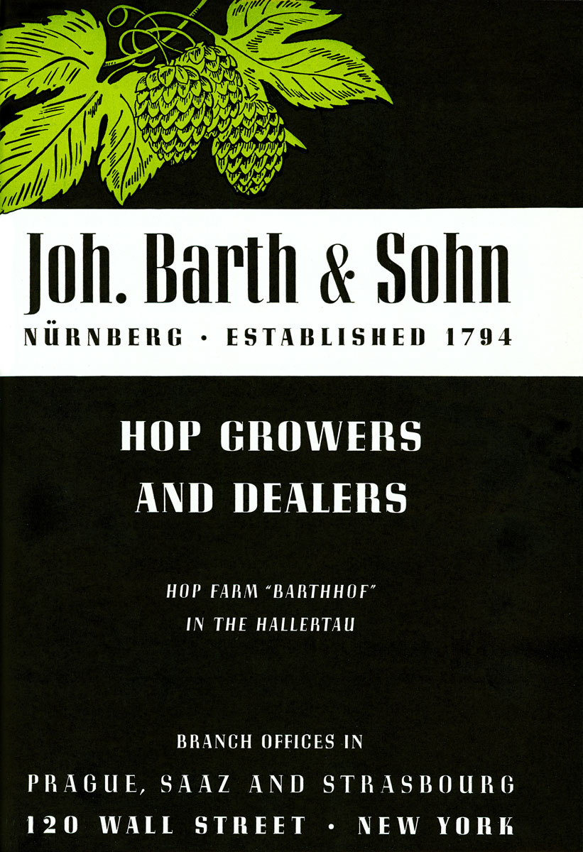 Beer advertisement for Joh. Barth & Sohn