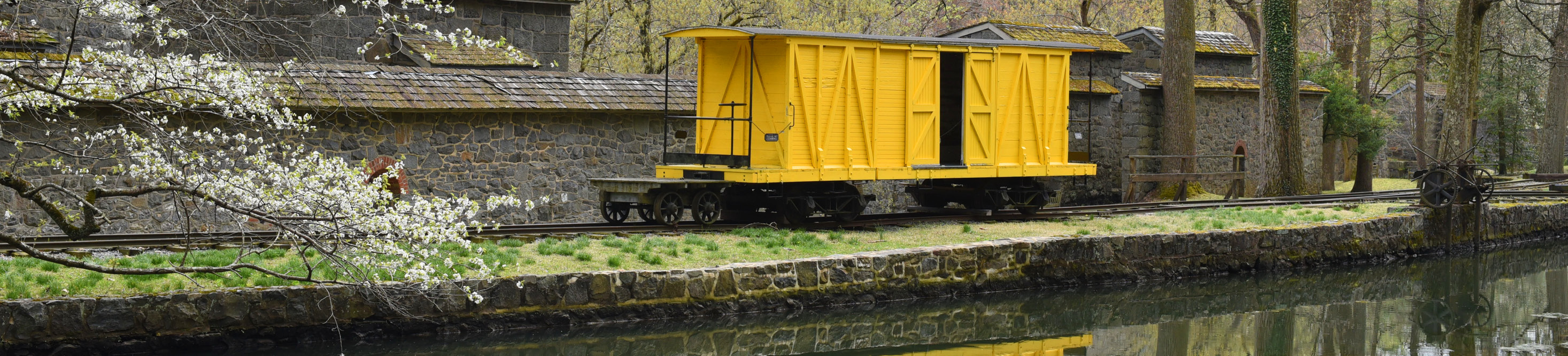 The Boxcar and Millrace at Hagley Museum and Library