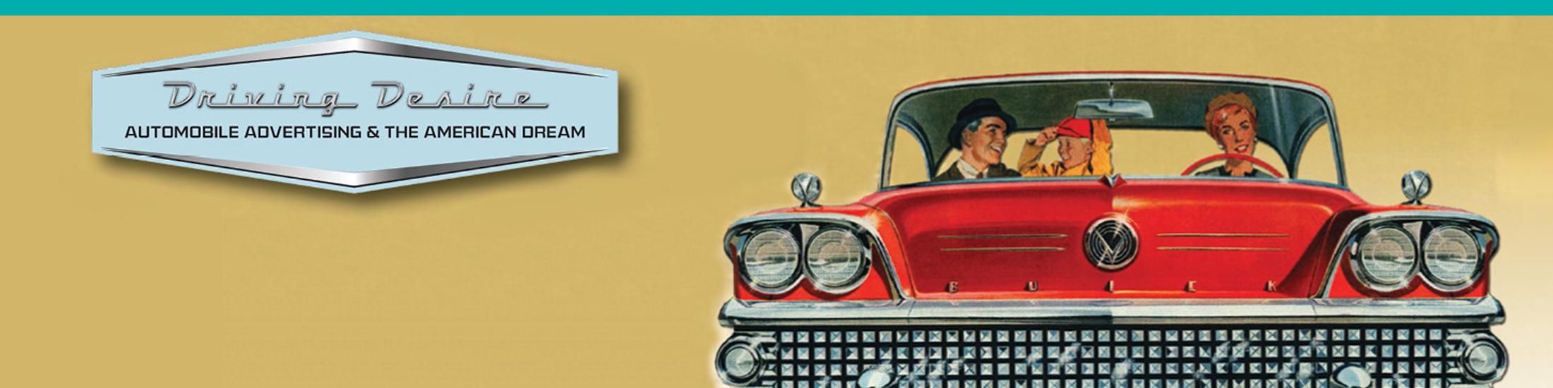 Vintage car advertisement