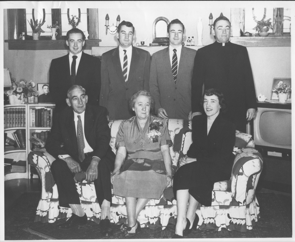 The McGowan family in 1954