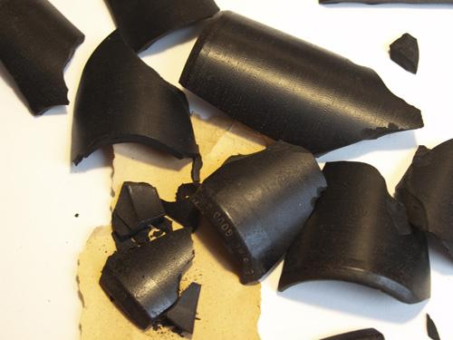 A shattered cylinder