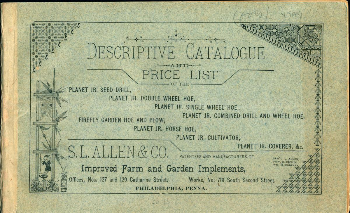 Catalog price list from S.L Allen