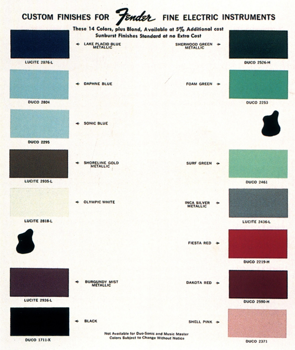 Published Collections: The DuPont Colors for Fender Guitars