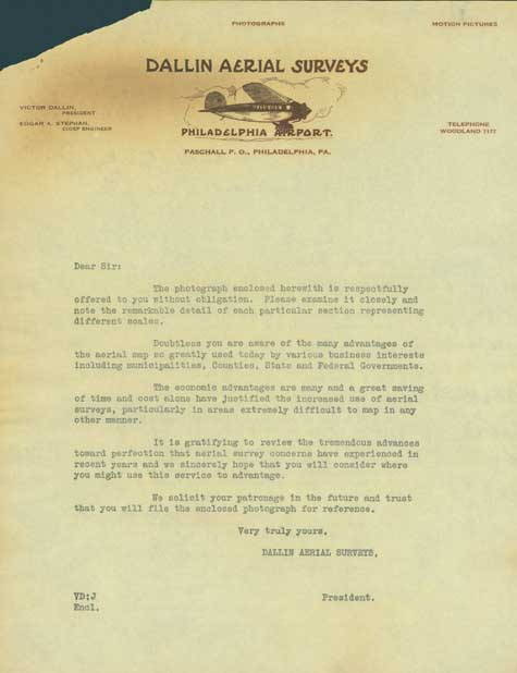 Dallin Company letter to a potential client