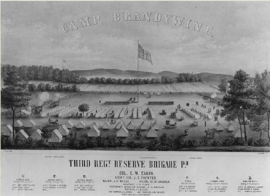 Camp Brandywine tents and layout