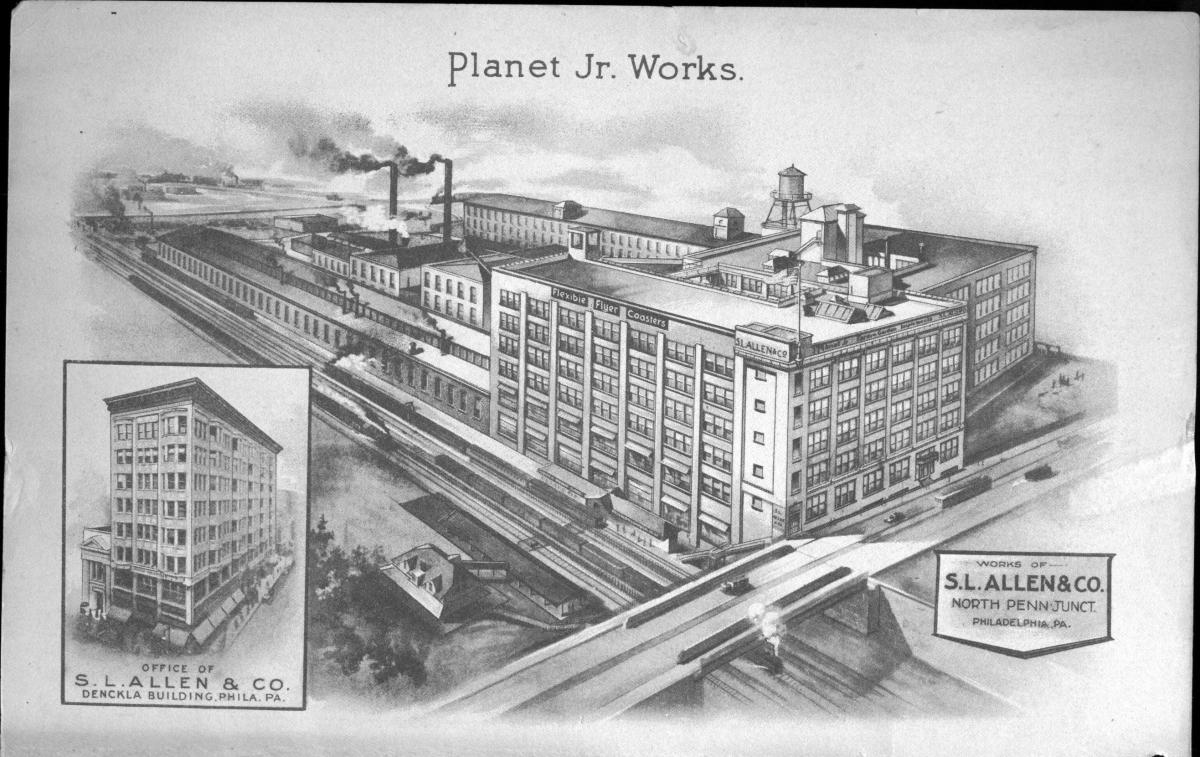 A drawing of the S.L. Allen factory