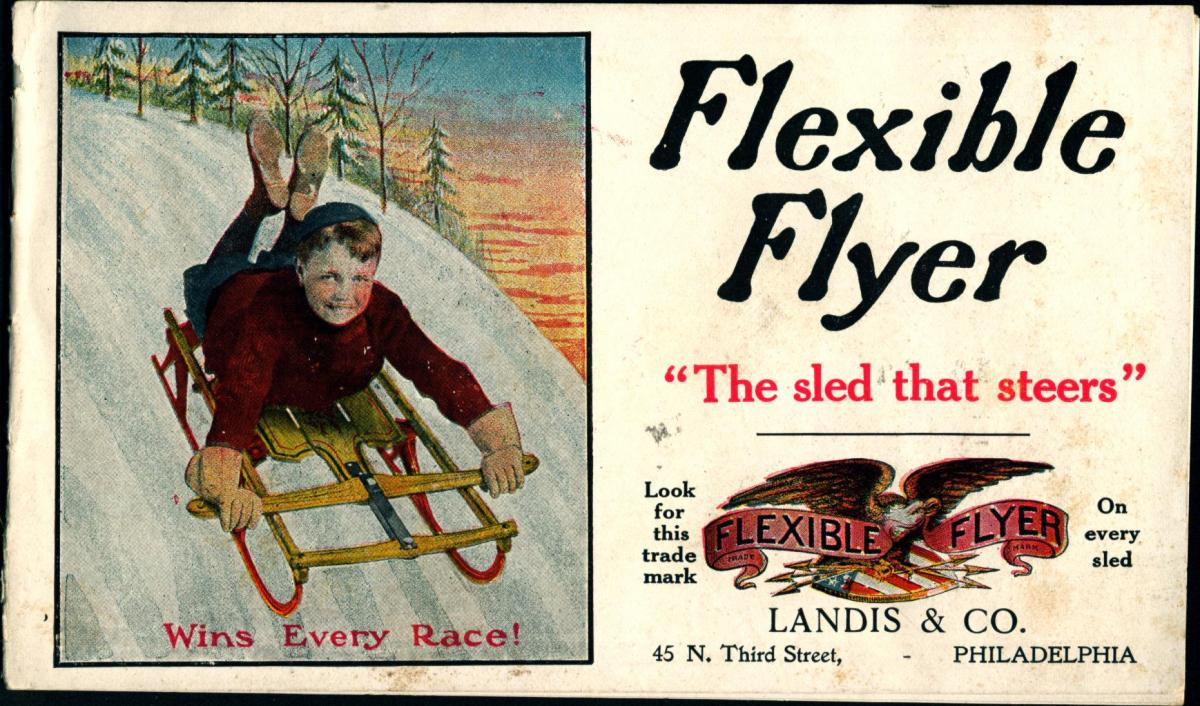 Cover of Flexible Flyer trade catalog, ca. 1910