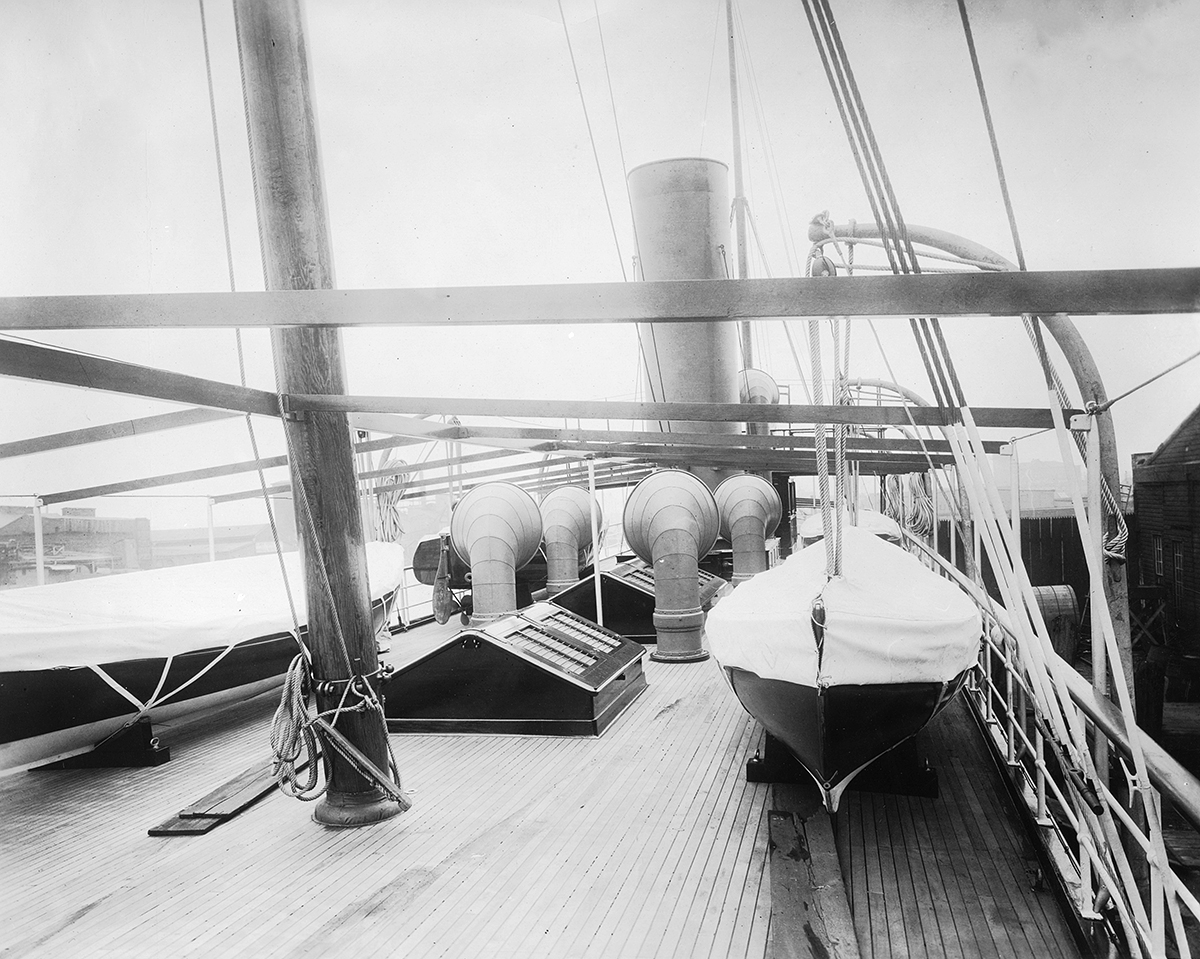Deck of the Lydonia