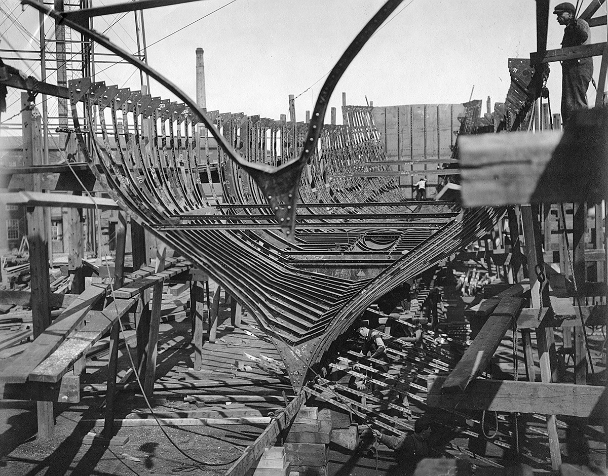 Lydonia's frame during construction