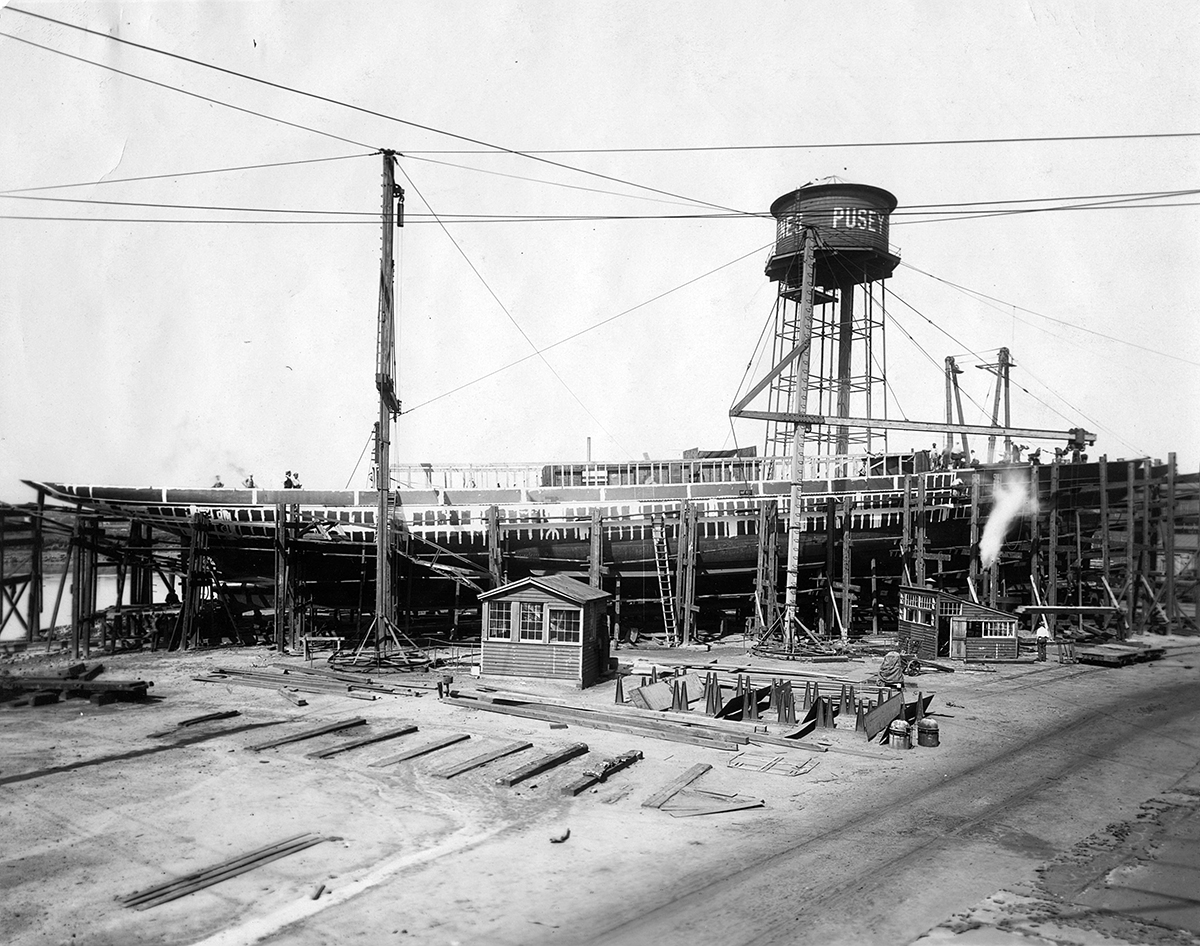 Shipyard construction of the Lydonia