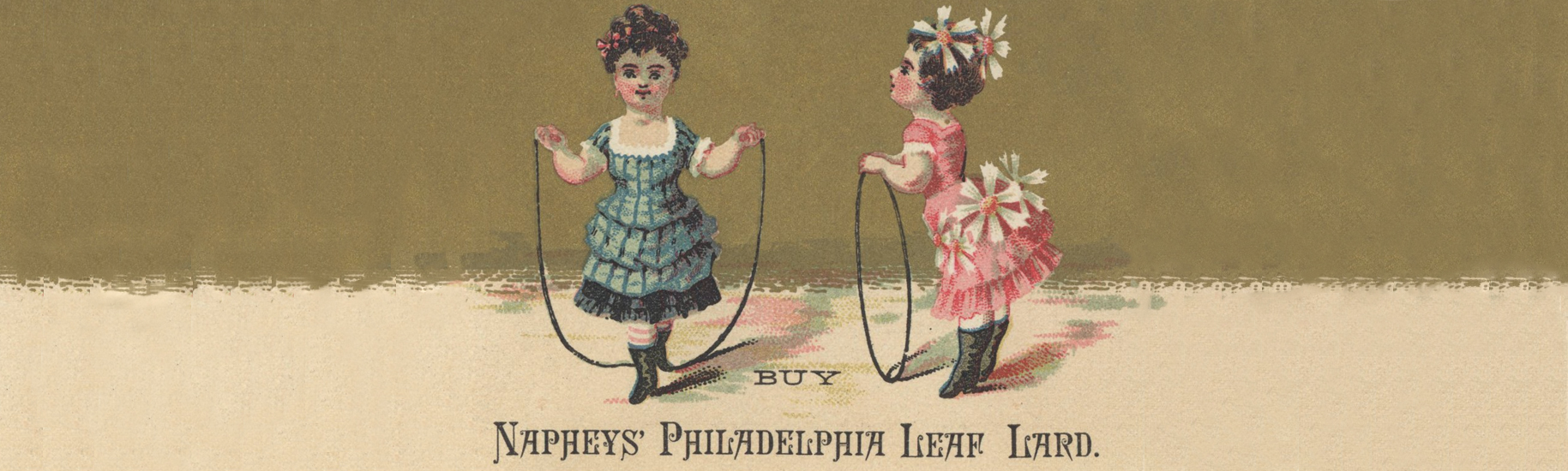 Naphey's advertisement with illustration of two girls jump roping