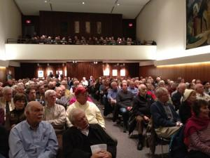 Audience at Hagley's Soda House auditorium to hear Al Churella's book talk