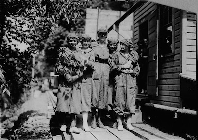 "The women who worked in the powderyards during WWI were known as ""bloomer girls"" after their on-the-job outfits."