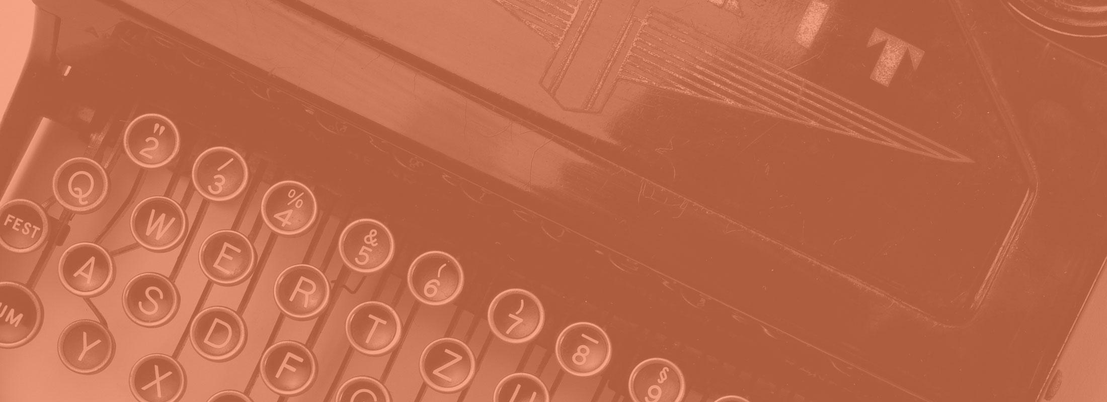 Close Up of Old Typewriter